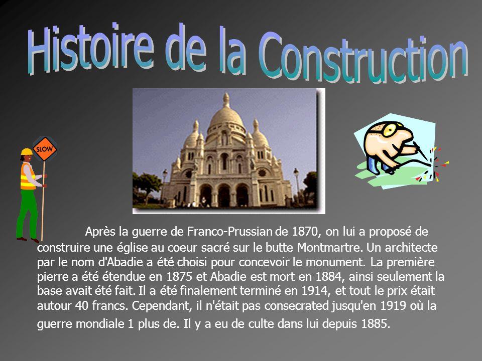 Après la guerre de Franco-Prussian de 1870, on lui a proposé de construire une église au coeur sacré sur le butte Montmartre. Un architecte par le nom
