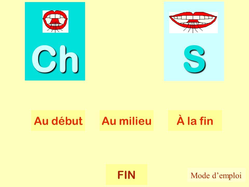 Ch-s Ch SSSS Au débutAu milieuÀ la fin FIN Mode demploi