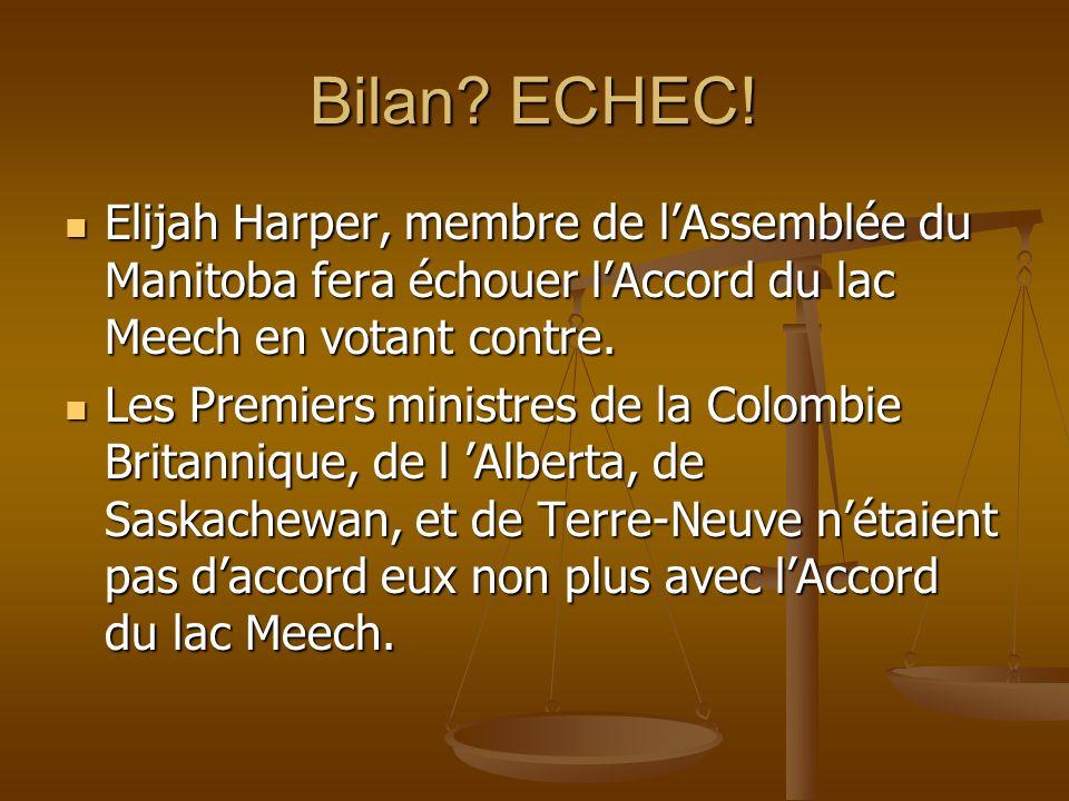 Bilan. ECHEC.