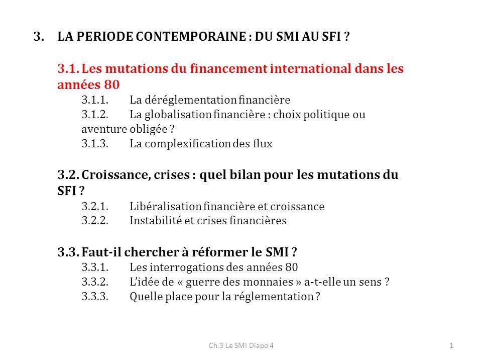3.La période contemporaine : du SMI au SFI .