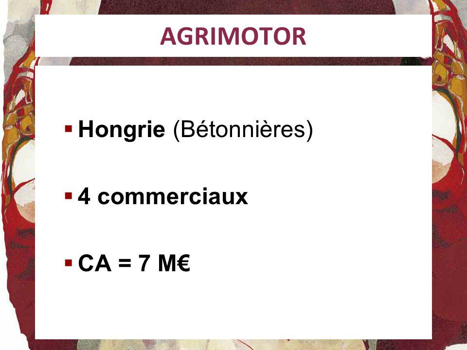 AGRIMOTOR Hongrie (Bétonnières) 4 commerciaux CA = 7 M
