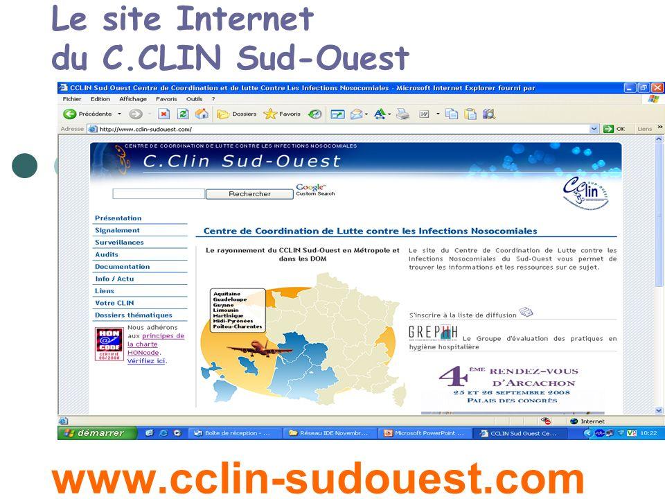 Le site Internet du C.CLIN Sud-Ouest www.cclin-sudouest.com