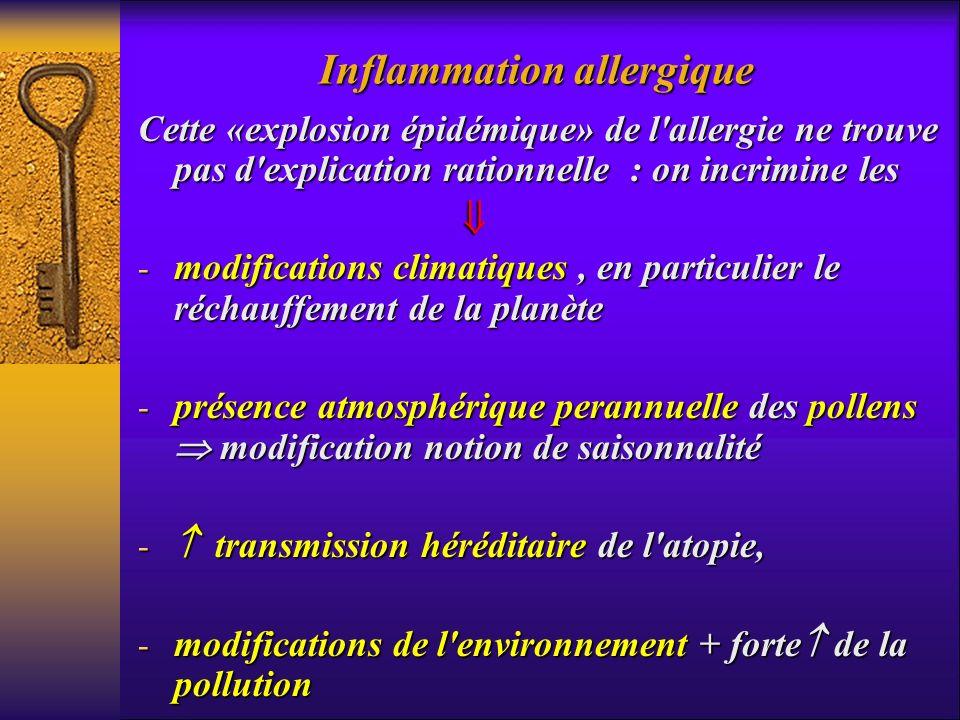 Cette «explosion épidémique» de l'allergie ne trouve pas d'explication rationnelle : on incrimine les - modifications climatiques, en particulier le r