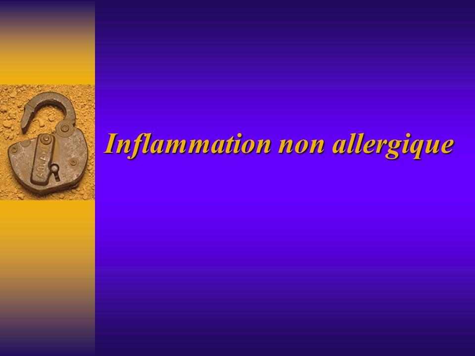 Inflammation non allergique