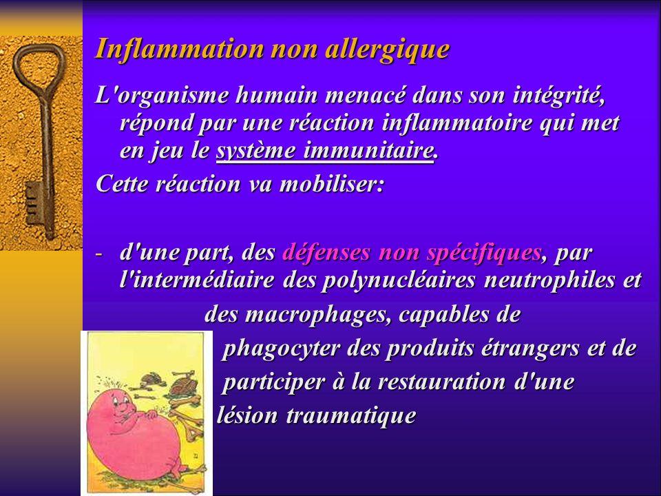 L'organisme humain menacé dans son intégrité, répond par une réaction inflammatoire qui met en jeu le système immunitaire. Cette réaction va mobiliser