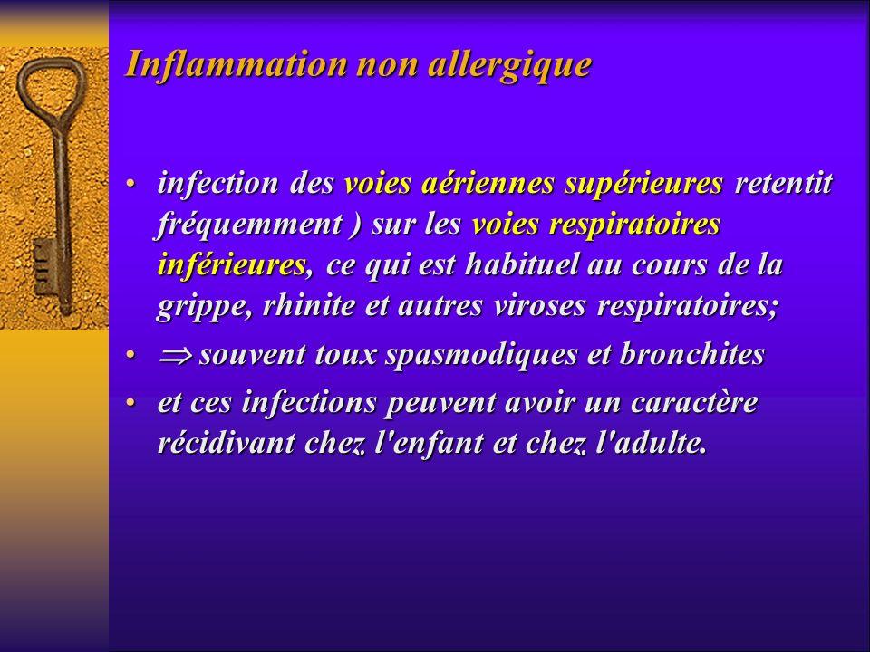 Inflammation non allergique infection des voies aériennes supérieures retentit fréquemment ) sur les voies respiratoires inférieures, ce qui est habit