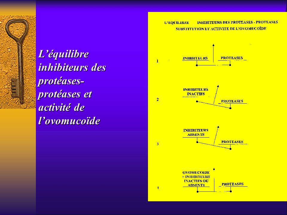 Léquilibre inhibiteurs des protéases- protéases et activité de lovomucoïde