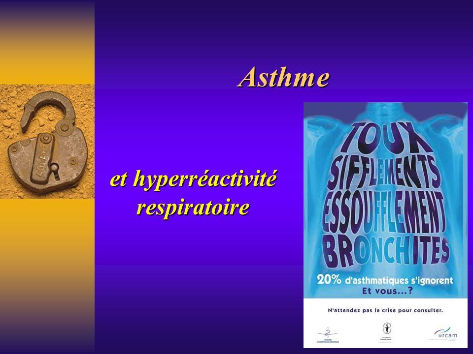 Asthme et hyperréactivité respiratoire