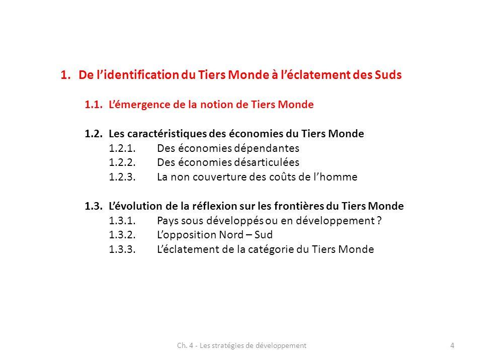 Ch.4 - Les stratégies de développement5 1.