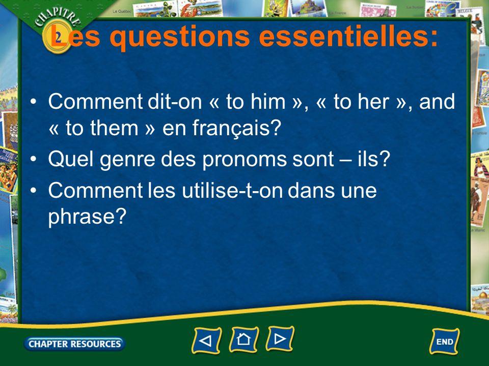 2 Les pronoms lui, leur 1.You have already learned the direct object pronouns le, la, and les.
