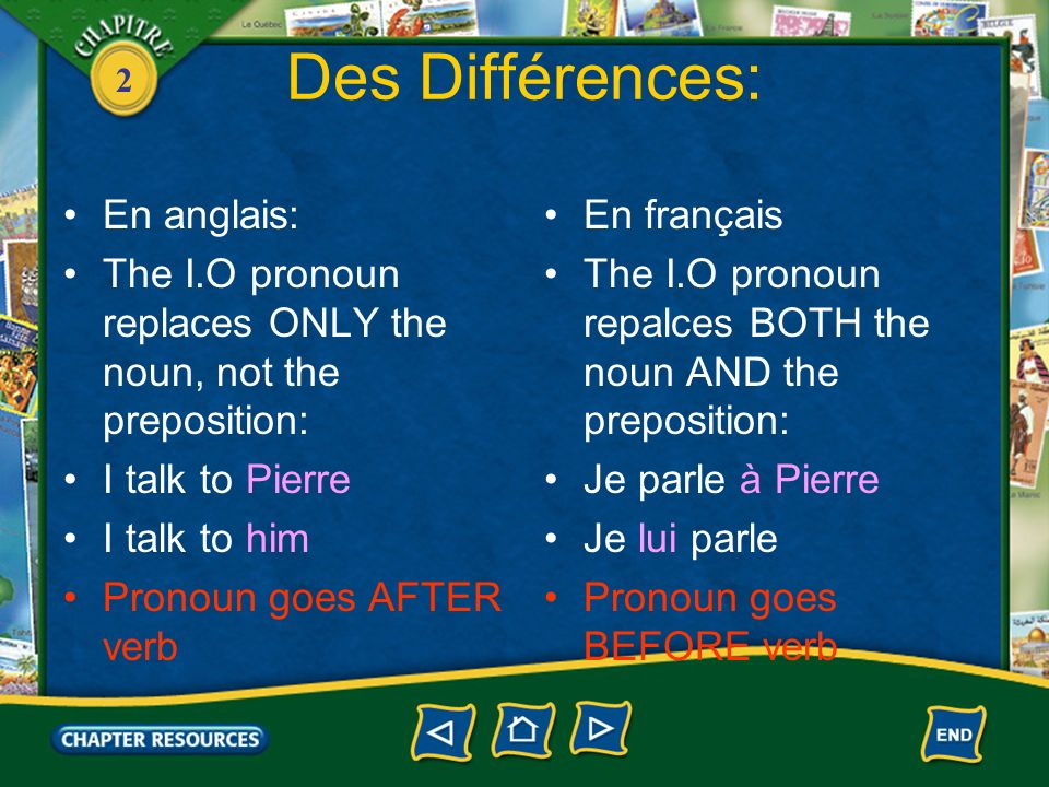 2 En Bref: Both Direct & Indirect: Me – me, to me Te – you, to you Nous – us, to us Vous – you, to you