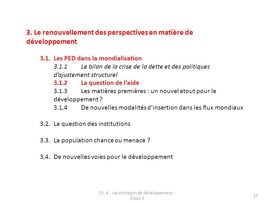 3. Le renouvellement des perspectives en matière de développement 3.1.Les PED dans la mondialisation 3.1.1Le bilan de la crise de la dette et des poli