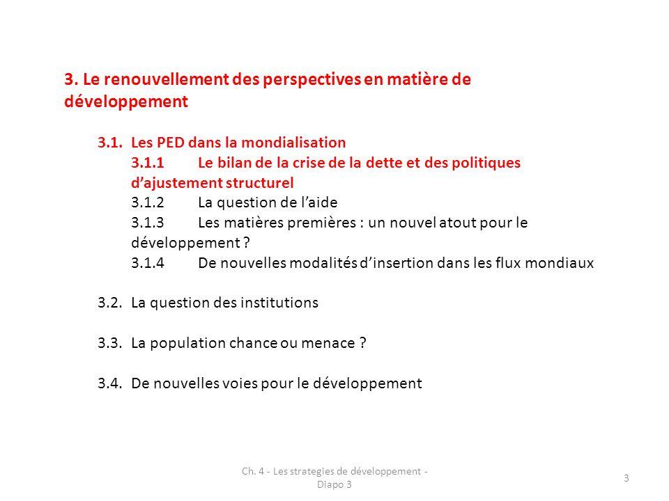 Ch.4 - Les strategies de développement - Diapo 3 14 3.