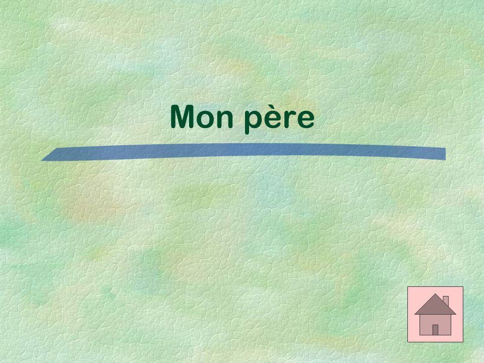 Les adjectifs possessifs $100 Translate: My father