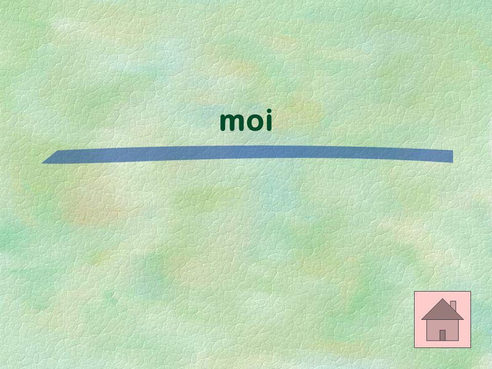 Le bon mot $200 Je vais chez _____. (my house)