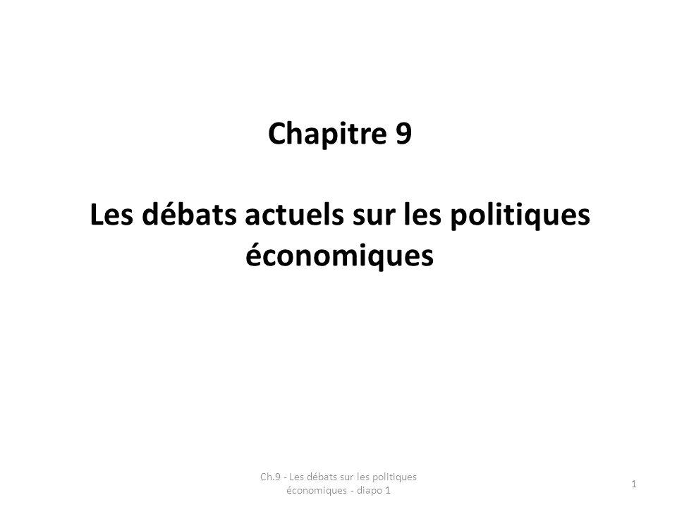 Chapitre 9 Les débats actuels sur les politiques économiques Ch.9 - Les débats sur les politiques économiques - diapo 1 1