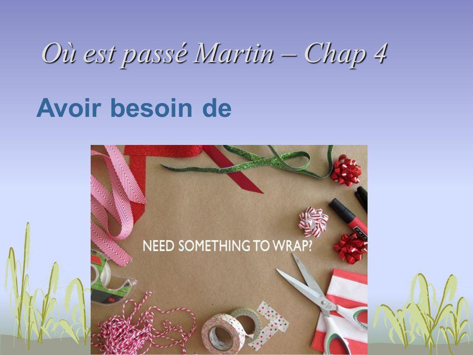 Où est passé Martin – Chap 4 Corrections Activité de compréhension 5.