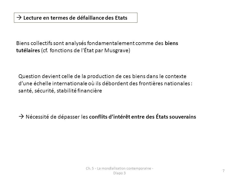 Ch. 5 - La mondialisation contemporaine - Diapo 3 18