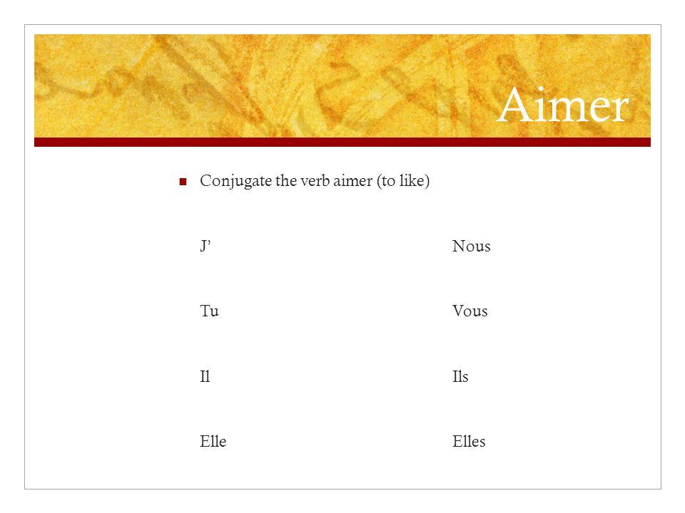 J Jouer Conjugate the verb jouer (to play) JNous TuVous IlIls ElleElles