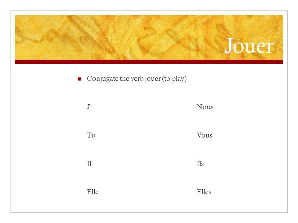 Faire in the negative - In a negative sentence, du, de la, de l, and des change to de / d - Examples: Nous faisons du vélo.