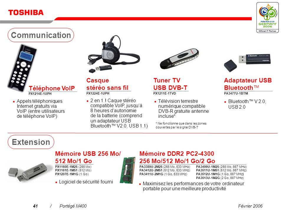 Février 200640/Portégé M400 Mini disque dur 80 Go PX1217E-1G08 Adaptateur unité de disque dur ultra-compact SelectBay PA3408U-2ETC Disque dur 160/250/