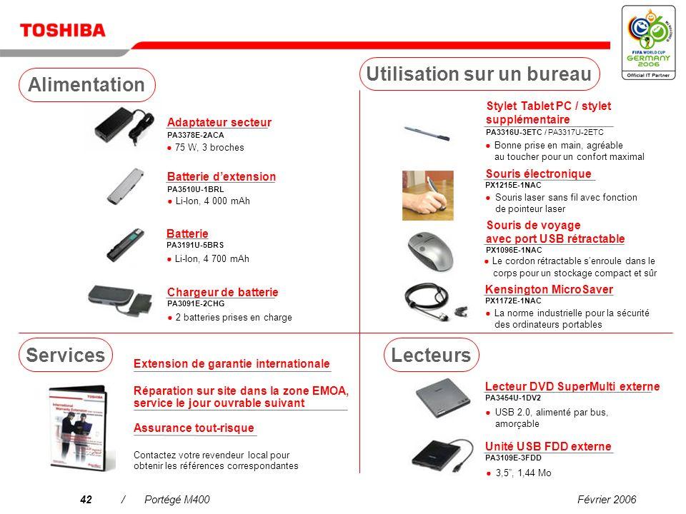 Février 200641/Portégé M400 Tuner TV USB DVB-T PX1211E-1TVD Télévision terrestre numérique compatible DVB-R gratuite antenne incluse* Casque stéréo sa