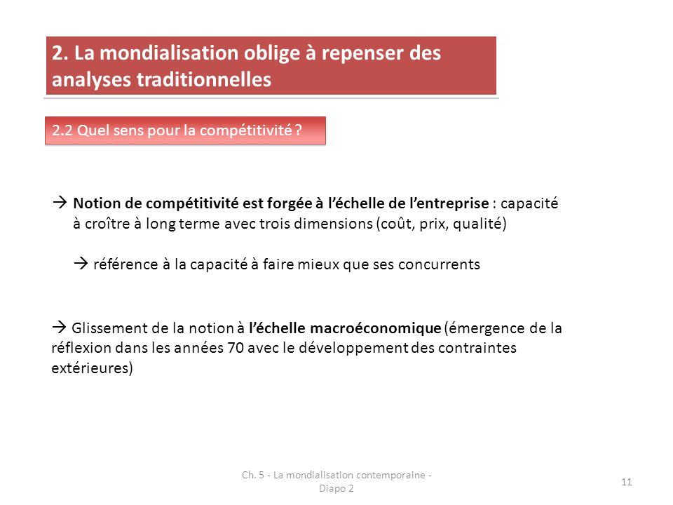 Ch. 5 - La mondialisation contemporaine - Diapo 2 11 2.