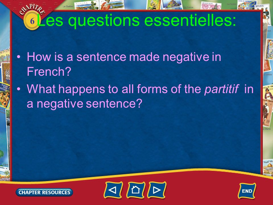 6 Les questions essentielles: How is a sentence made negative in French.