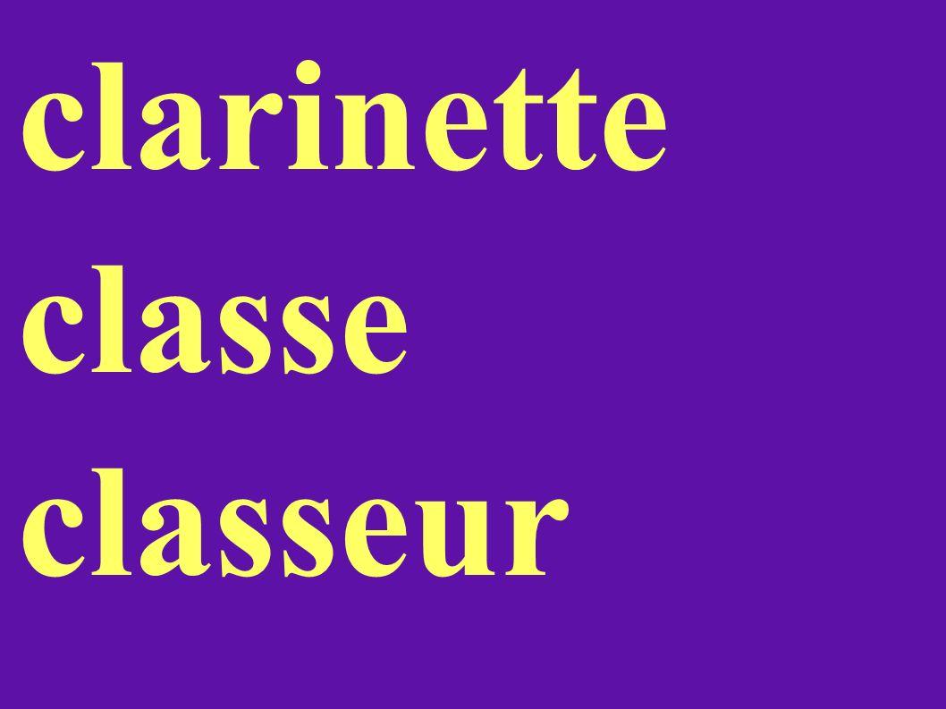 clarinette classe classeur