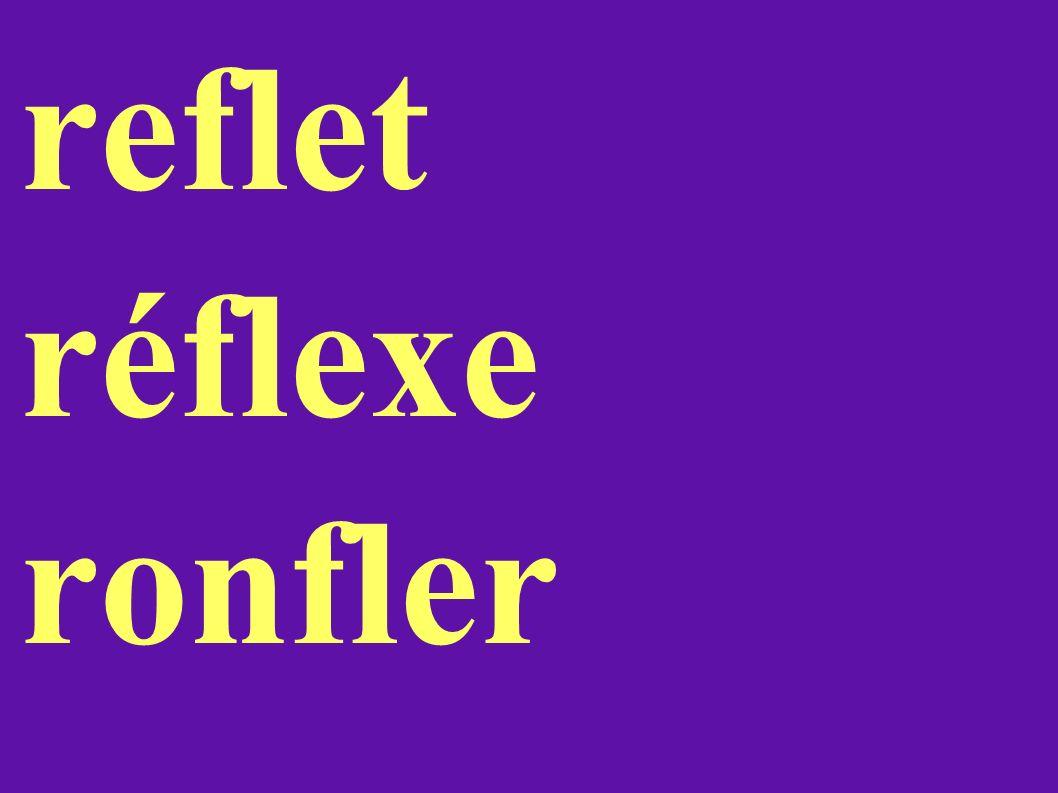 reflet réflexe ronfler