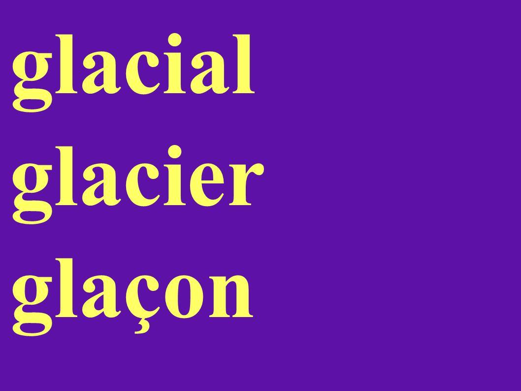 glacial glacier glaçon