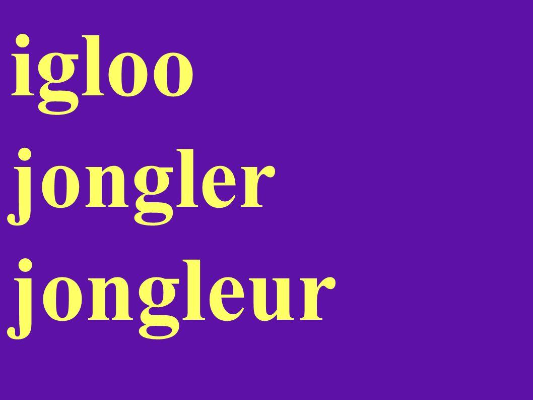 igloo jongler jongleur