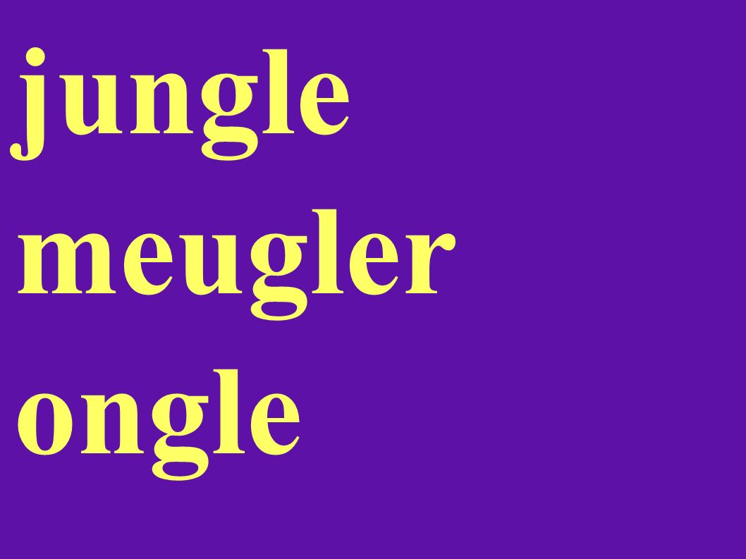 jungle meugler ongle