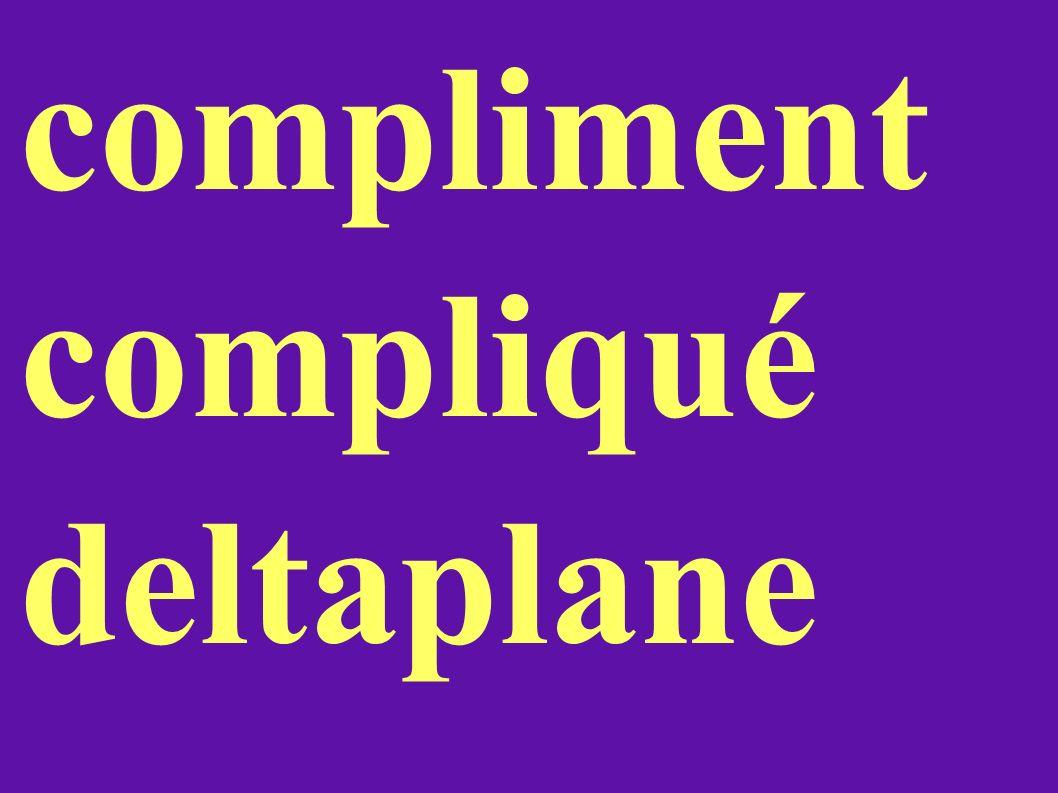 compliment compliqué deltaplane
