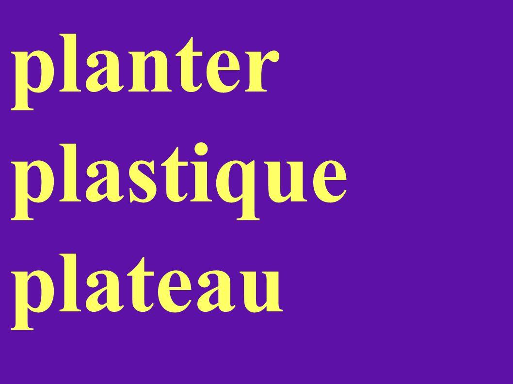planter plastique plateau