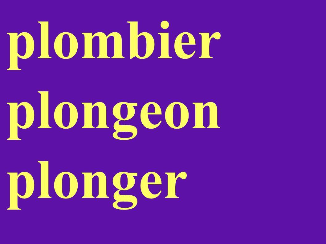 plombier plongeon plonger