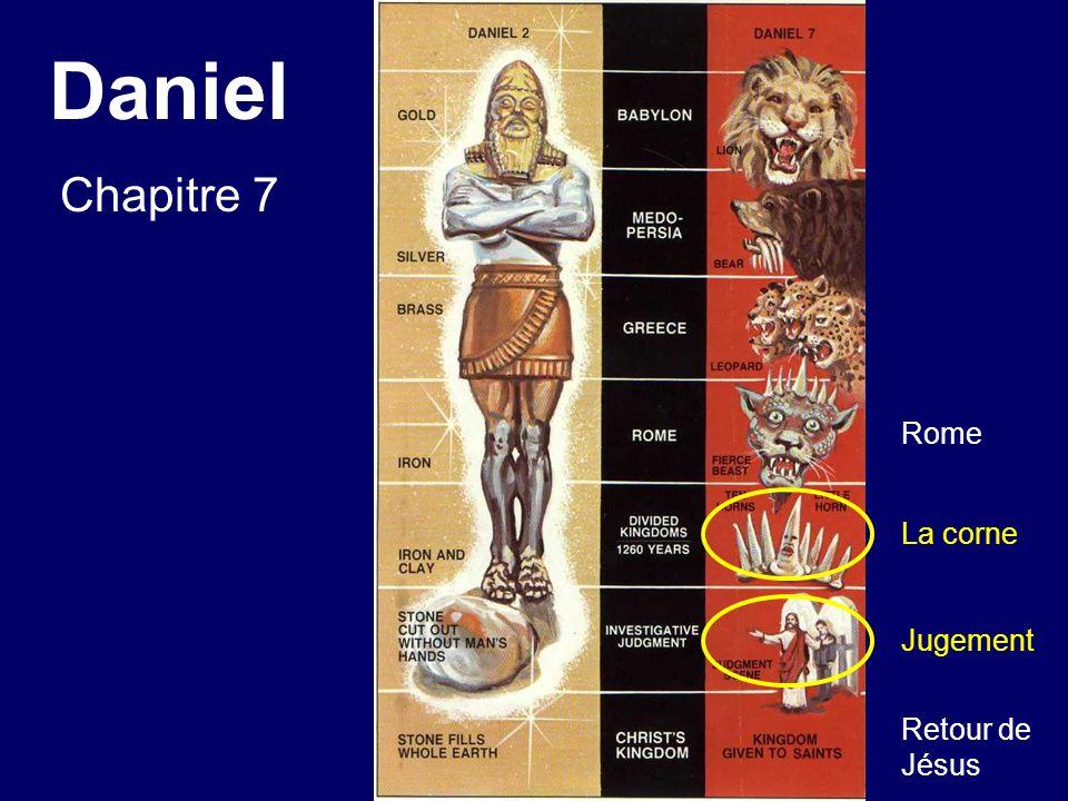 Daniel Chapitre 7 Rome La corne Jugement Retour de Jésus