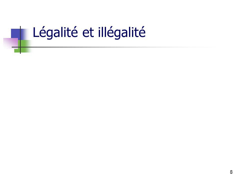 8 Légalité et illégalité