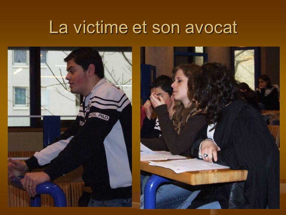 La victime et son avocat