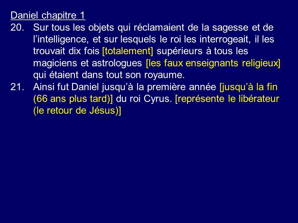 Daniel chapitre 1 20.Sur tous les objets qui réclamaient de la sagesse et de lintelligence, et sur lesquels le roi les interrogeait, il les trouvait d