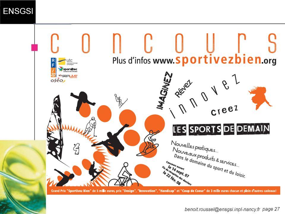 page 27 ENSGSI benoit.roussel@ensgsi.inpl-nancy.fr