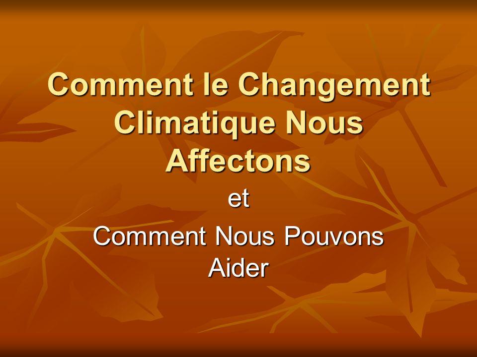 Comment le Changement Climatique Nous Affectons et Comment Nous Pouvons Aider