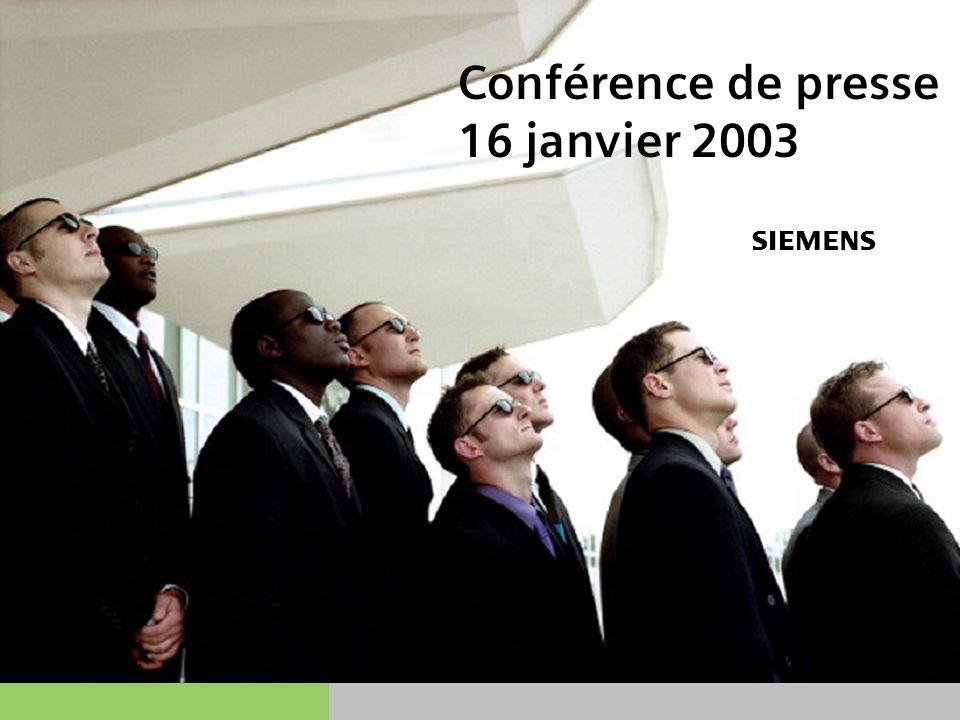 s JAN.-03 12   14 Siemens AG présent dans 118 pays Global Player Siemens Luxembourg (Groupe) Nous sommes 364 collègues de 8 nationalités différentes Allemand Espagnol Luxembourgeois Belge Français Portugais Colombien Italien Société citoyenne Société citoyenne (2)