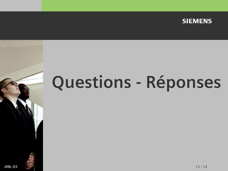 s JAN.-03 Questions - Réponses 13 | 14