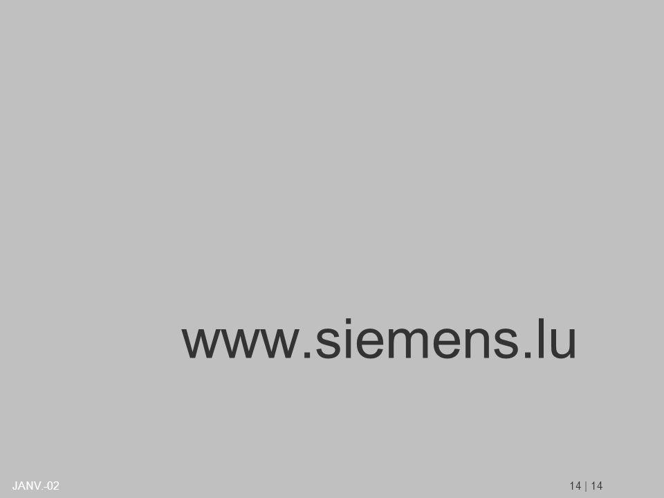 www.siemens.lu 14 | 14JANV.-02