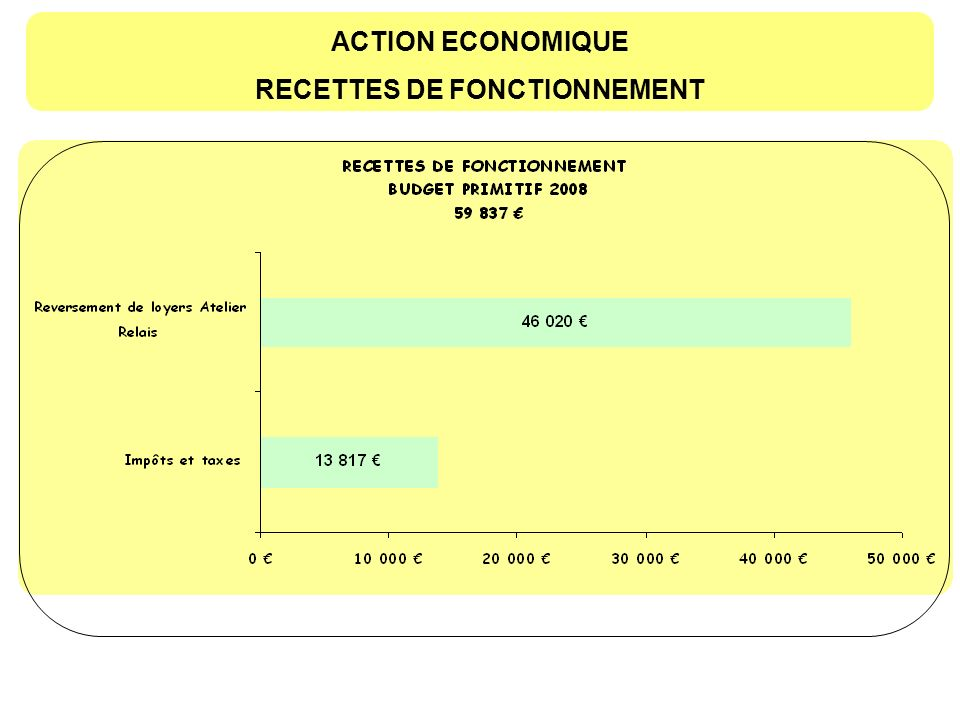 ACTION ECONOMIQUE DEPENSES DINVESTISSEMENT