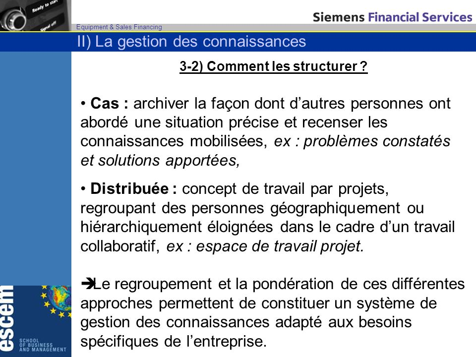 Equipment & Sales Financing 3-2) Comment les structurer .