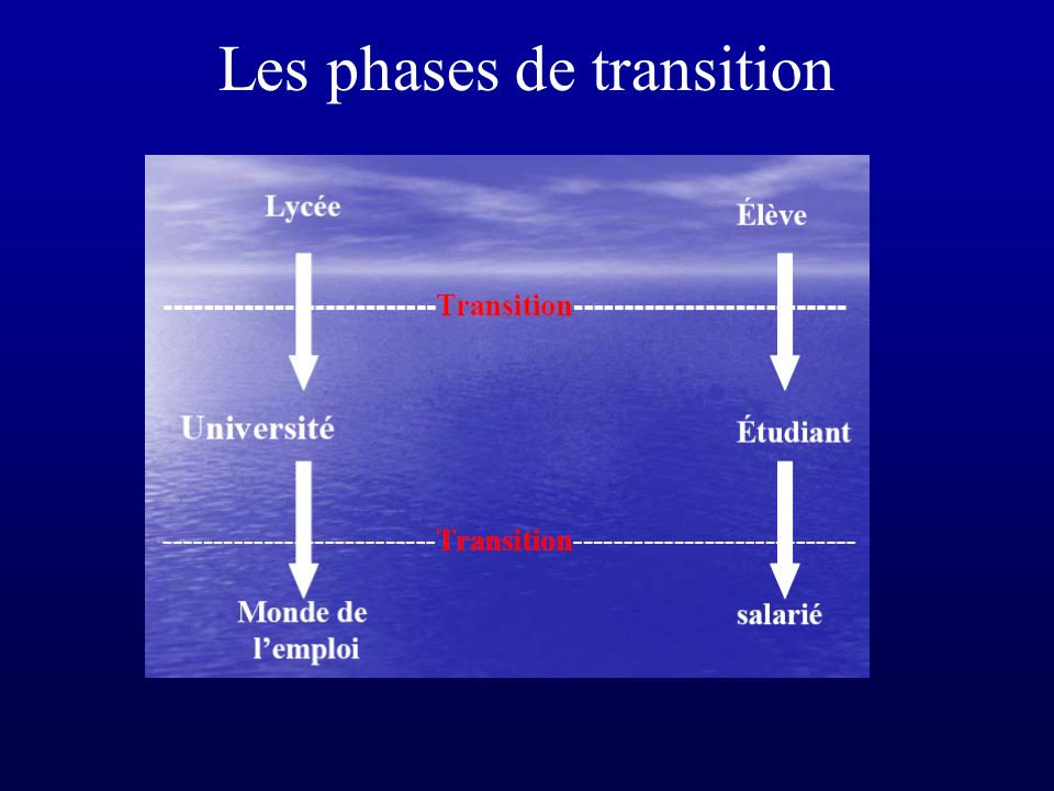 Les phases de transition