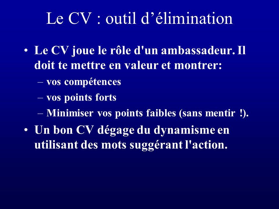 De lintérêt dun CV soigné La sobriété est importante.