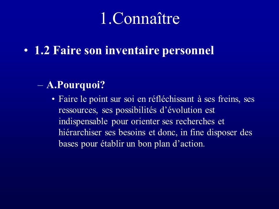 1.Connaître –B.Comment.
